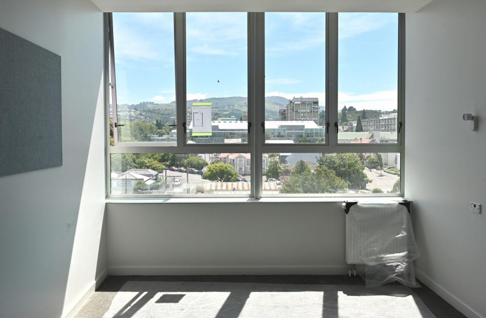 The view from one of the new rooms on the top floor of Hayward College.