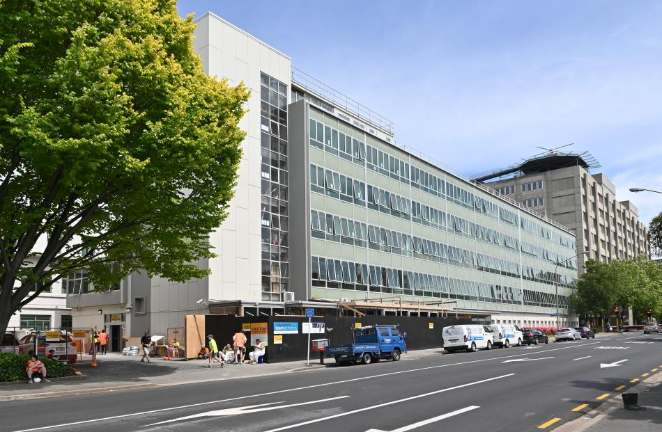 University of Otago hall of residence Hayward College, on Frederick St, is undergoing a 12-week...