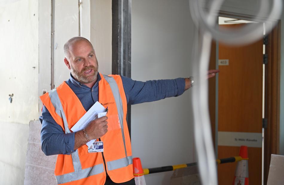 Project manager Tony Burton explains progress on the refurbishment.