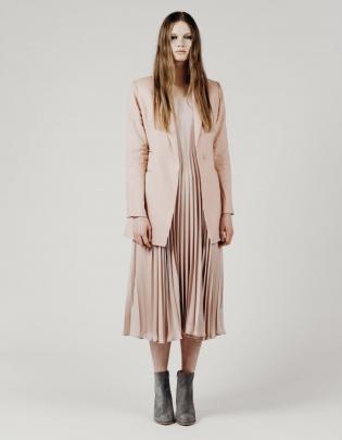 Kenya blazer, blush linen, by Charmaine Reveley.