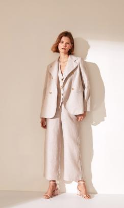 Kona linen blazer, linen vest and linen trouser, by Ruby