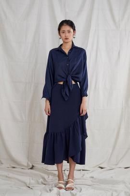 Ovna Ovich's  Etka skirt in indigo.