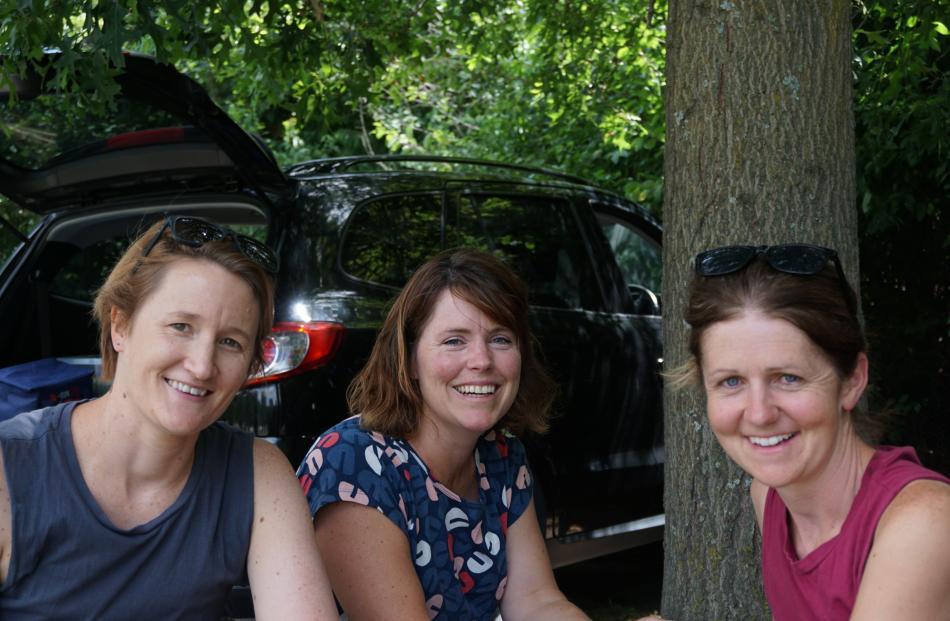 Alice Lovelock, of Wanaka, Anna Rowley and Mary-Clare Muir, both of Hawea Flat.