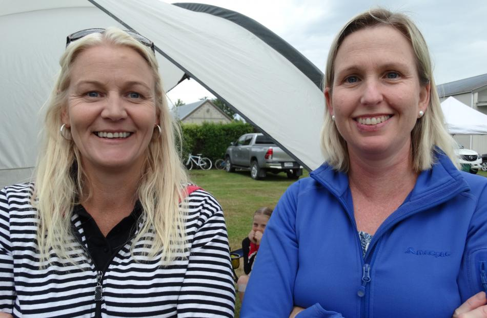 Nicole Cooney and Shona Thompson, of Waimate.