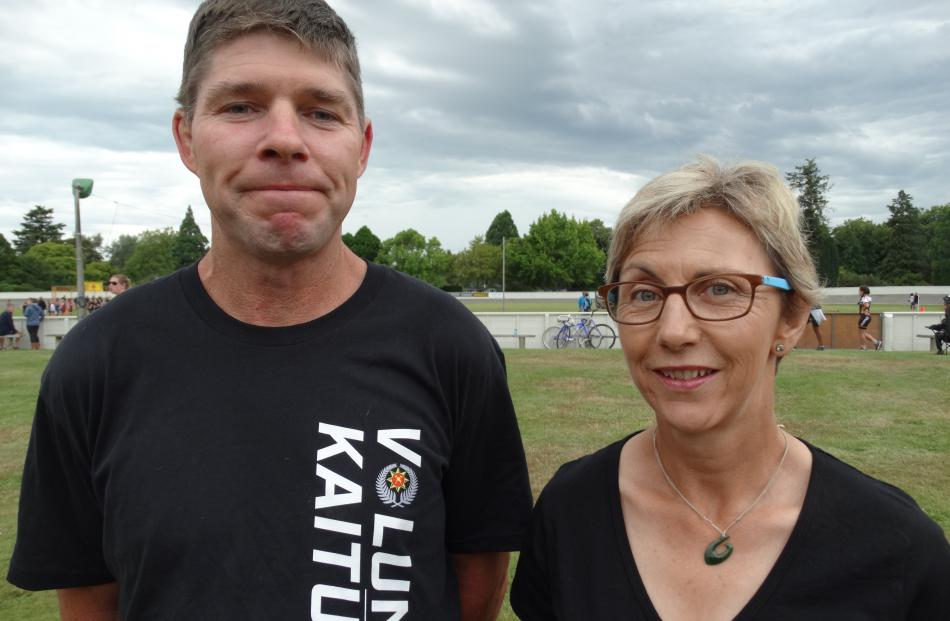 John Edmondston and Debbie Stowell, of Waimate.