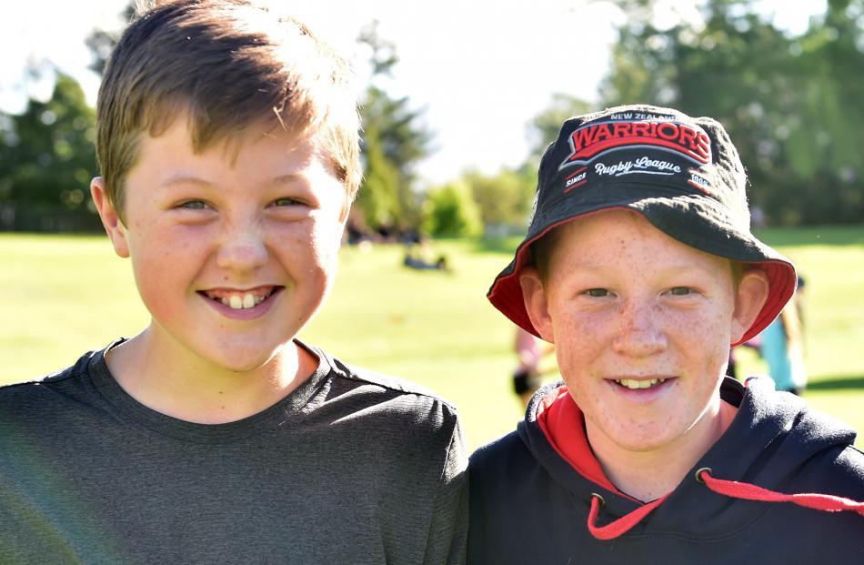 Tim Sinnott (12) and Kiaran Bailey (12), both of Cromwell.