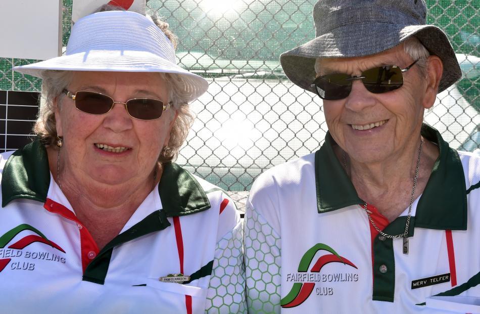 Pam Clarkson and Merv Telfer, both of Fairfield.