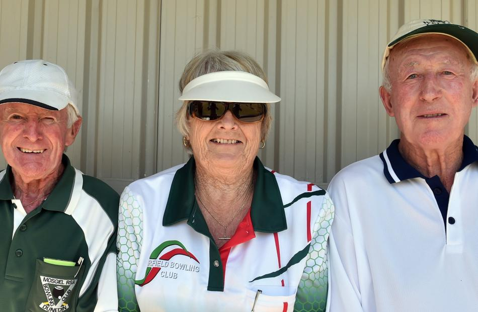 Neville Mercer, of Mosgiel, Margaret Wallace, of Mosgiel, and Keith Hopkins, of Outram.