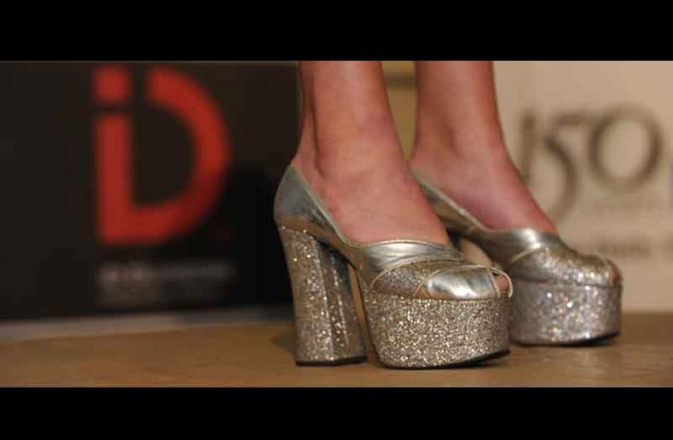 A pair of sparkly numbers at the opening of ID during the launch at the Otago Daily Times...