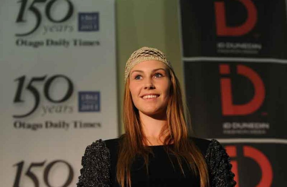 Cecily Reed [16] models during the opening of ID during the launch at the Otago Daily Times...