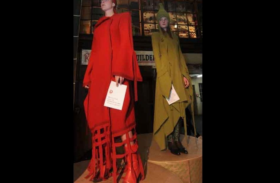 Charlotte Barraclough [21] and Kayleigh Hancock [18] model during the opening of ID during the...