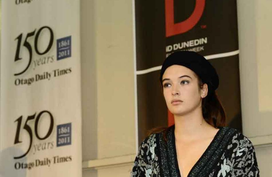 Eva Duncan (17) models at the opening of ID Fashion Week in the Otago Daily Times building on...