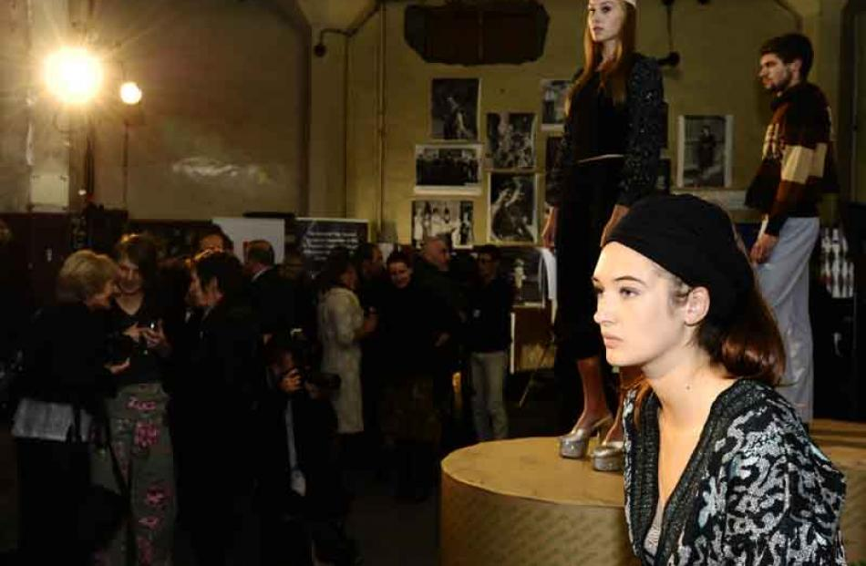 Faces at the opening of ID Fashion Week in the Otago Daily Times building on Tuesday evening....