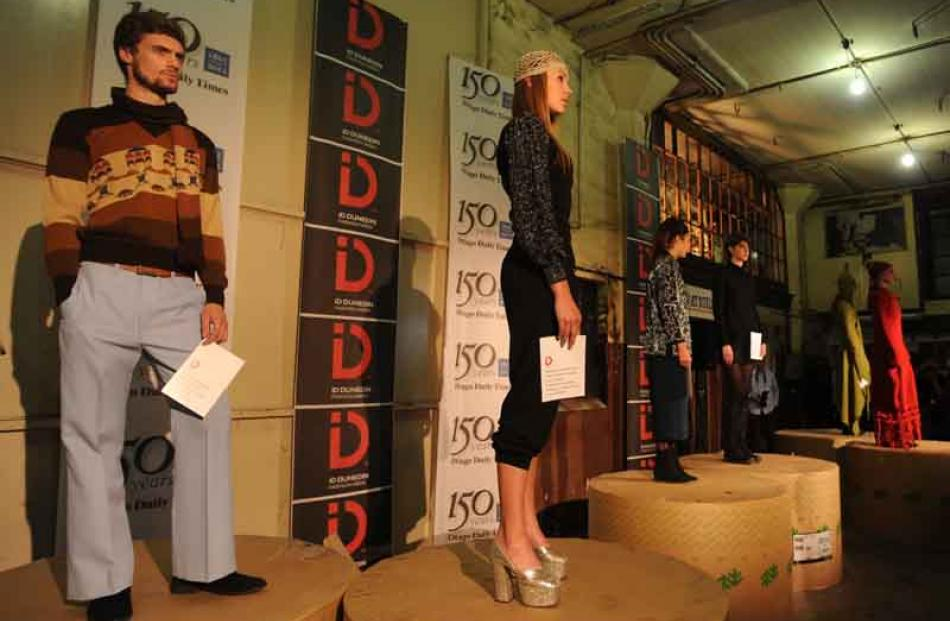 Models on show at the opening of ID during the launch at the Otago Daily Times Building on...