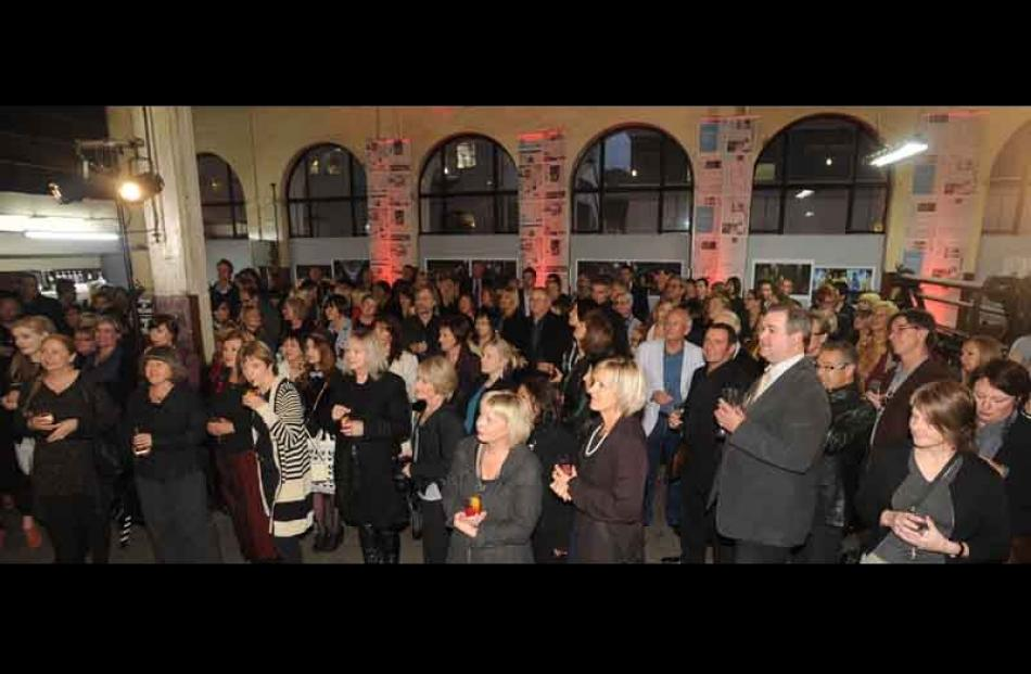 The crowd at the  opening of ID Fashion during the launch at the Otago Daily Times Building on...