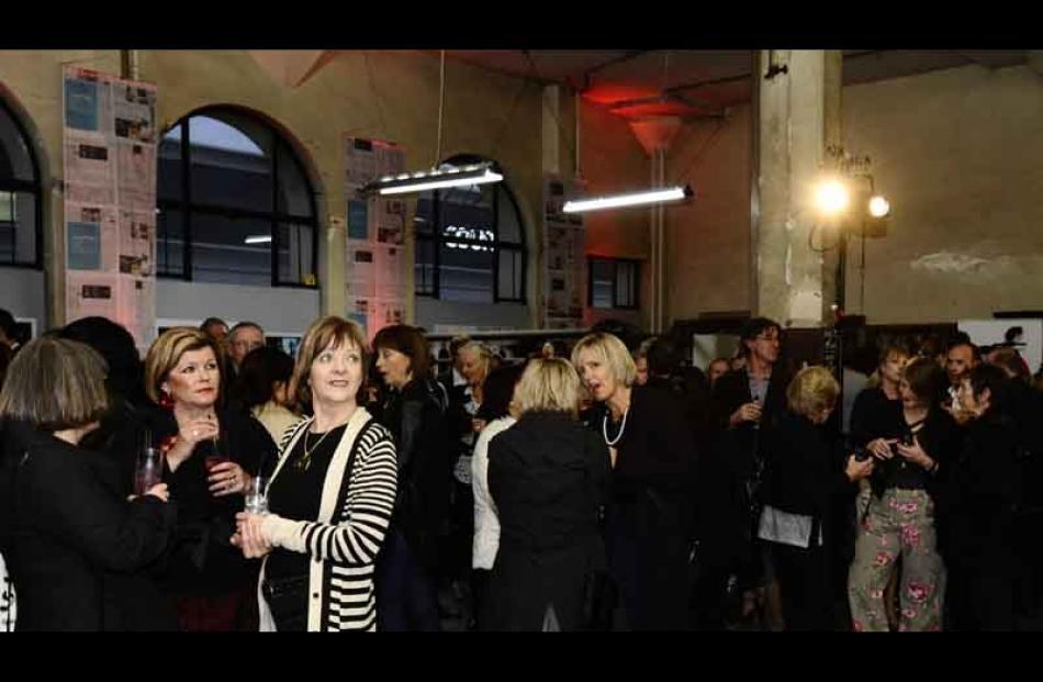 The crowd at the opening of ID Fashion Week in the Otago Daily Times building on Tuesday evening....