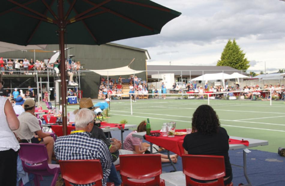 Courtside at the Te Anau Tennis Club courts in Luxmore Drive.