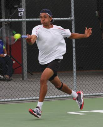 18-year-old Ajeet Rai of Taranaki in action in the final against Auckland's Rubin Statham.