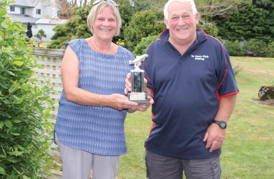 Dianne Anderson of Te Anau, winner of the Te Anau Club Trophy – Best Condition Factor Overall of...