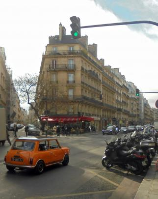 Negotiating Paris traffic in all it's forms was an adventure in it's own right. Photo: John Shaw