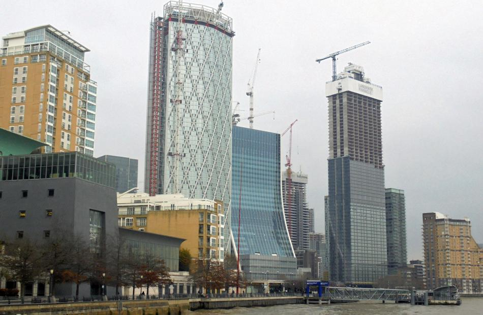 London loves it's clusters, it seems Canary Wharf gets taller by the day.