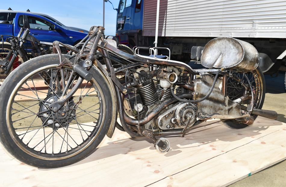 Burt Munro's record-setting Indian motorcycle is on display at the challenge.