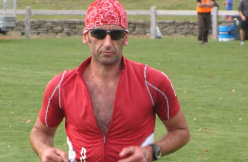Tony Bennett, of Christchurch, placed second in the Triathlon Kayak Veteran Male category.