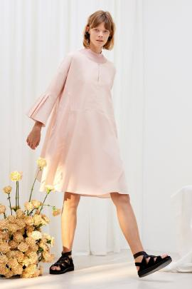 Kowtow's atrium dress in blush.