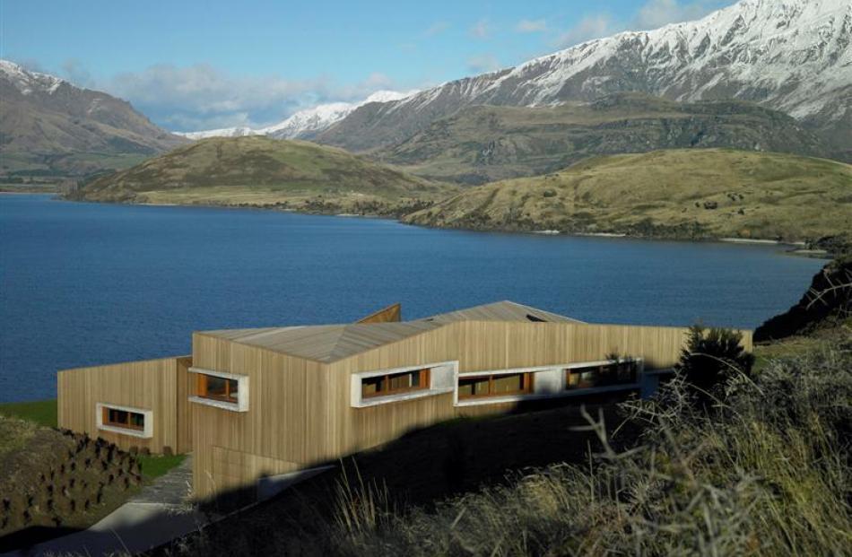 Te Kaitaka-Lake Wanaka retreat, a house designed by Stevens Lawson Architects.