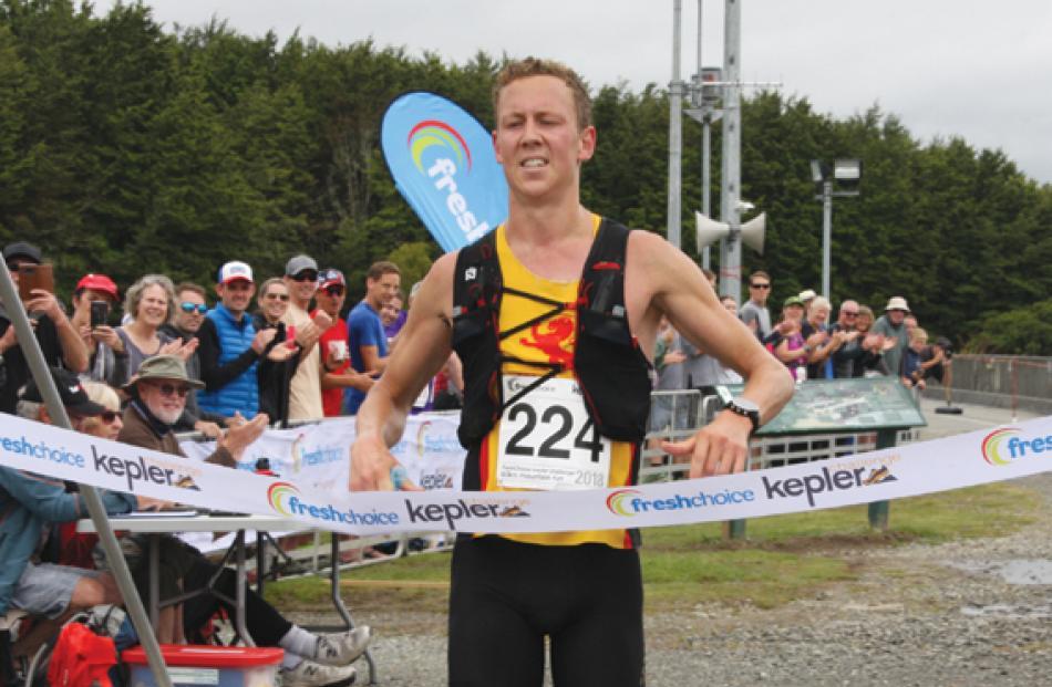 Daniel Jones of Wellington, wins the 2018 Fresh Choice Kepler Challenge at Te Anau on Saturday....