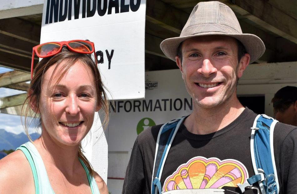 Kate Crook, of Te Anau, and Dean Ford, of Wellington.
