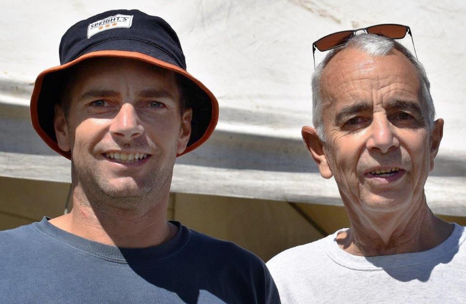 Scott Payne and father Warren, both of Dunedin.