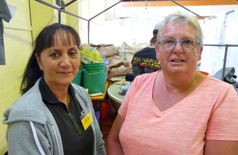 Roxanne Roxburgh, of Balclutha, and Barbara Newton, of Dunedin.