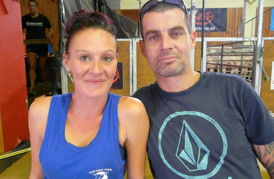 Amber and Shane Casserly, of Kaitangata.