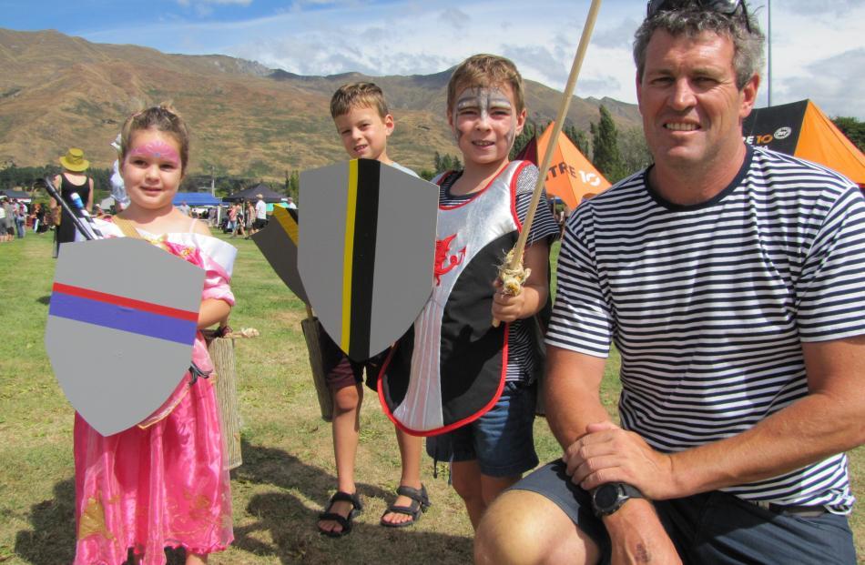 Harriet (4), Lachlan (7), William (5) and Matt Taylor, of Wanaka.