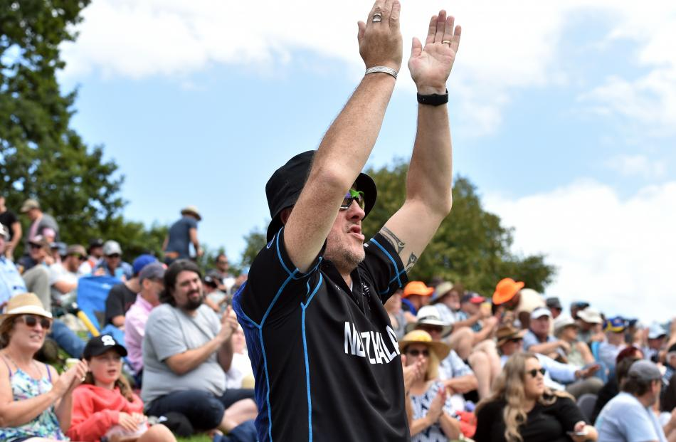 Cheering on the Black Caps is Casey Crawford, of Methven, who, with his wife Debbie, has attended...