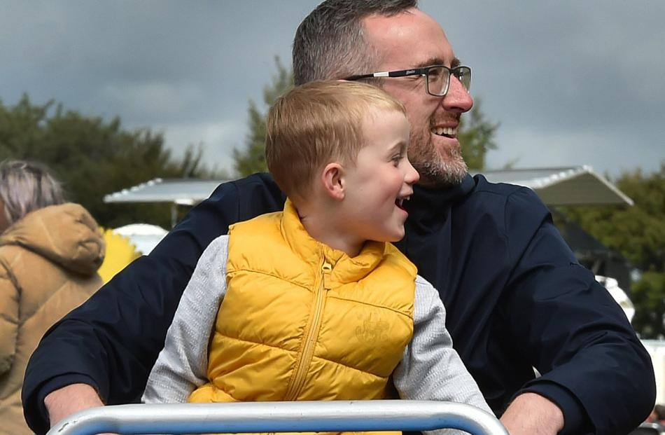 Liam Thomas, of Mosgiel, with his son Elliott (4).