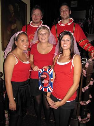 ig and Whistle Pub staff (from left) Gypsy Oram, Andy Parker, Carina Leverty, Neil Wilson and Bex...