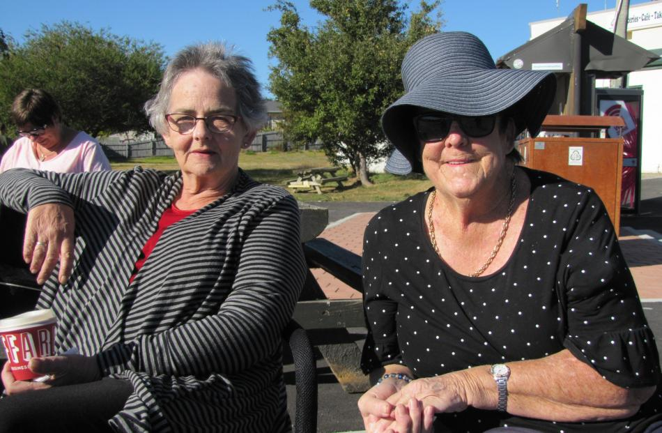 Le-ann Muir, of Wanaka, and Gail Ford, of Lake Hawea.