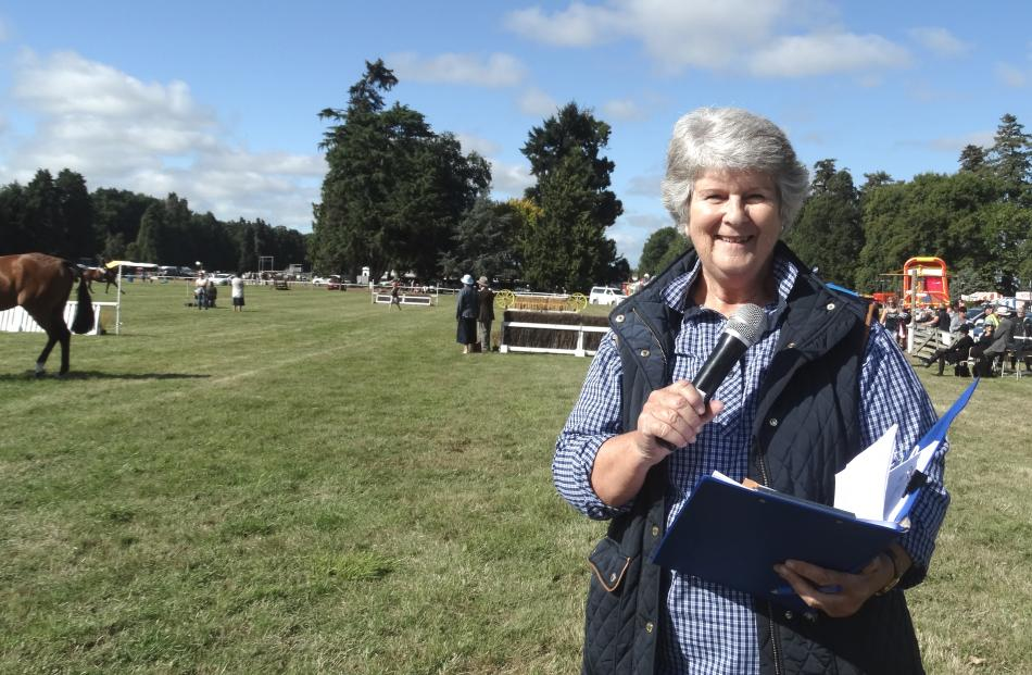 Diane Rawlinson, of Ashburton, was kept busy keeping people informed. She also announces at the...