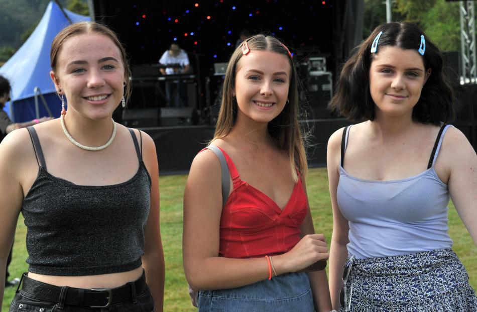 Chakra Mattingly, Emma Caidance and Aria Hughes (all 13), all of Dunedin.