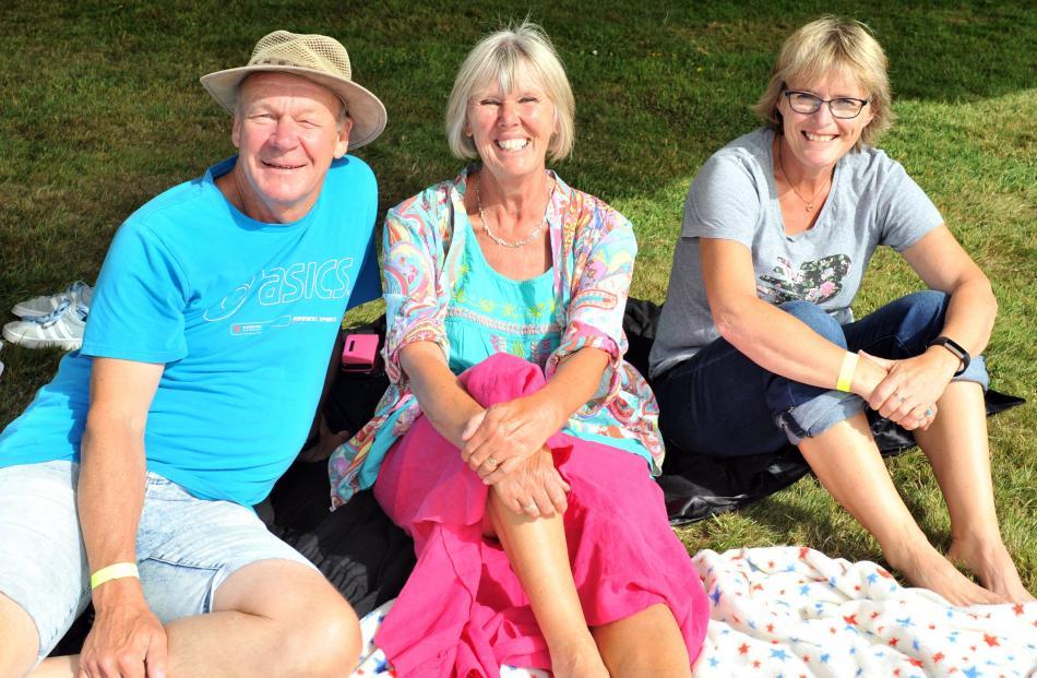 Rick and Sue Bourne and Andrea King, all of Waitati.