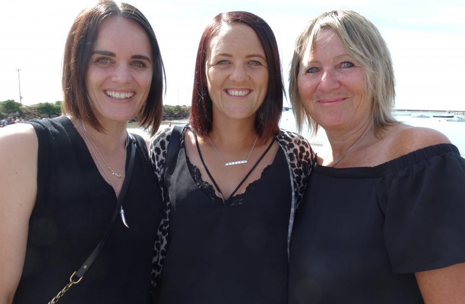 Emma Todd, of Ashburton, Hannah Leslie, of Ashburton, and Barb Johnson, of Oamaru.