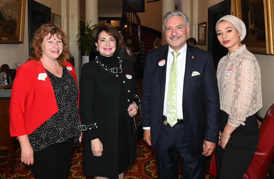 Dunedin South MP Clare Curran, of Dunedin, consul Henriette Nakhle, of Auckland, Cedars of...
