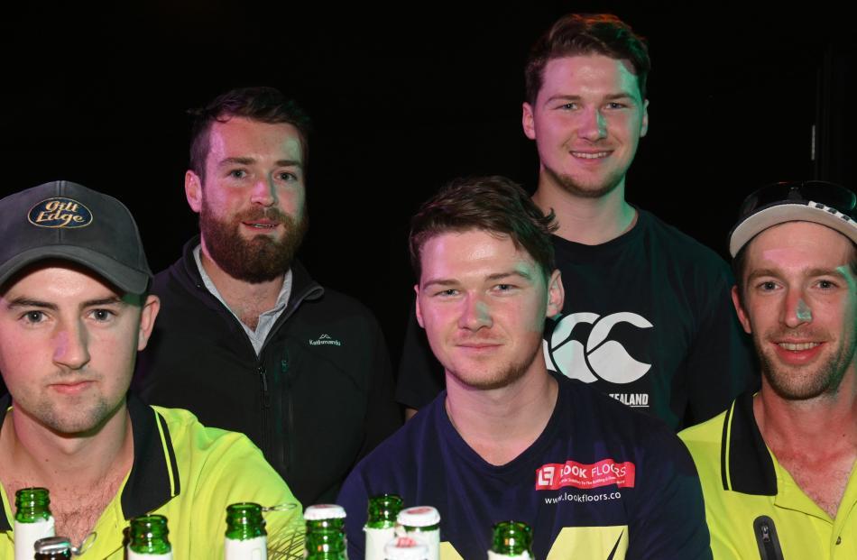 Sam van der Byl, Matthew Hall, Brian Anderton, Matt Anderton and Kris Bennett, all of Dunedin.