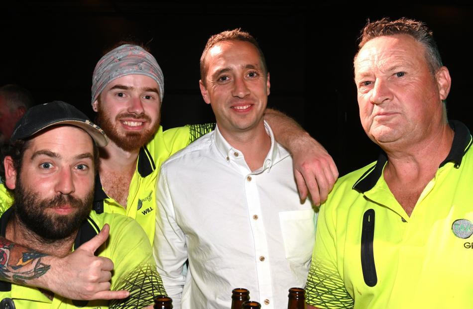 Todd Hendry, of Mosgiel, Will Ketchen and Jonny Rawson, both of Dunedin, and Greg Tomlinson, of...