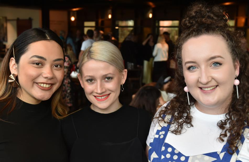 International Emerging Designers Show finalists (from left) Cassandra Casas Rojas, of Kent State...