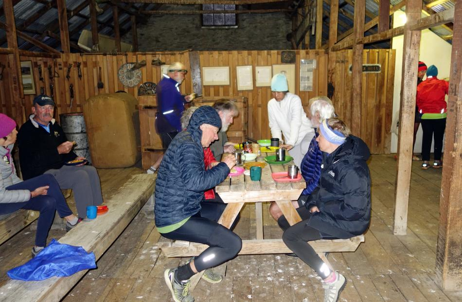 There are no heatpumps in the Morven Hills woolshed, so jackets were essential at breakfast on...
