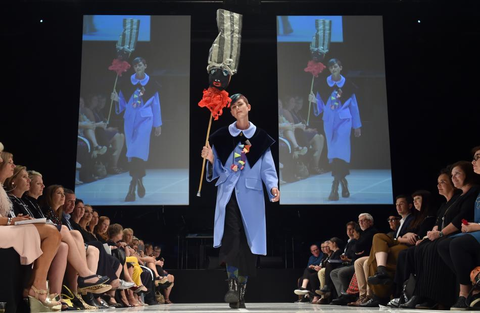 A model features designs from Dada. PHOTO: PETER MCINTOSH