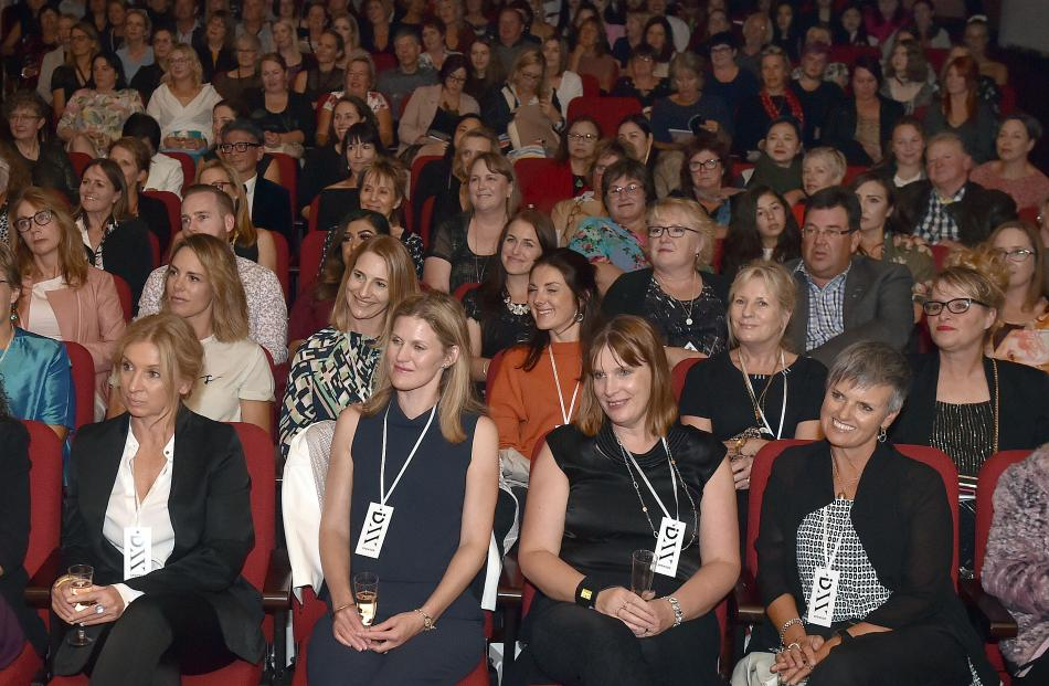 The crowd takes in the iD Dunedin Fashion Show at the Regent Theatre last night. PHOTO: PETER...